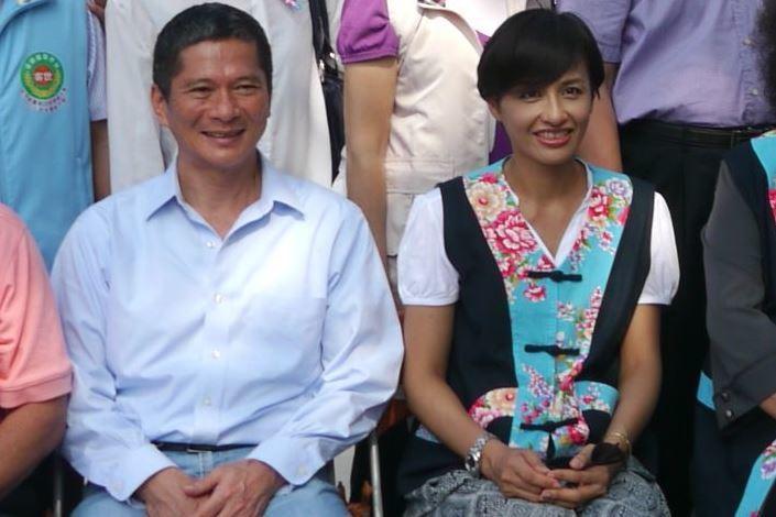 客委會主委李永得(左)與妻、立委邱議瑩雙雙捲入盤查風波。聯合報系資料照