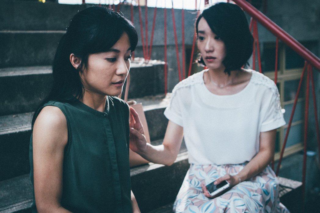 陳婉婷(左)、林子熙在「積木之家」中飾演同母異父的姊妹。圖/好風光提供