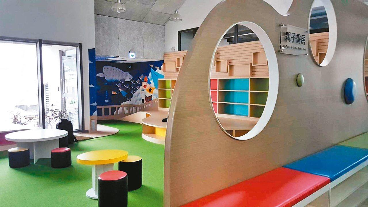 台東大學圖書館設有大學圖書館難得一見的「親子書房」。 記者李蕙君/攝影