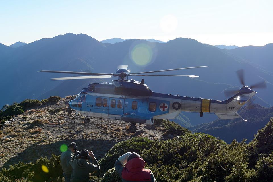 455聯隊現有四架「超級美洲獅」EC225 直升機。 圖/報系資料照
