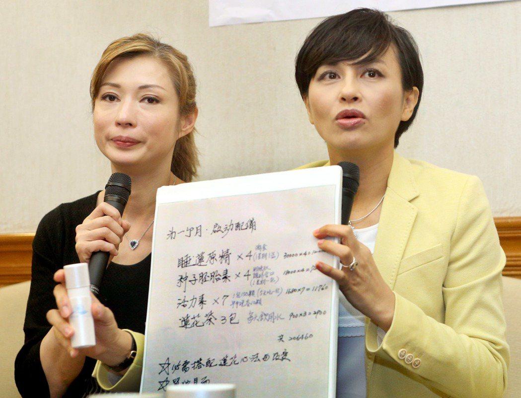 藝人溫翠蘋(左)的妹妹罹患乳癌二期,因誤信另類療法,花費龐大費用延誤治療,換來癌