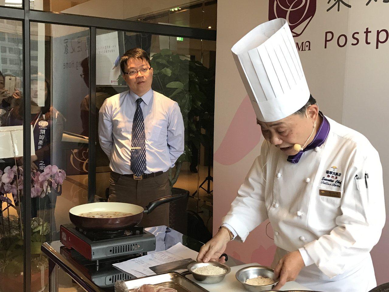 阿基師親手料理月子餐。記者陳妍霖/攝影