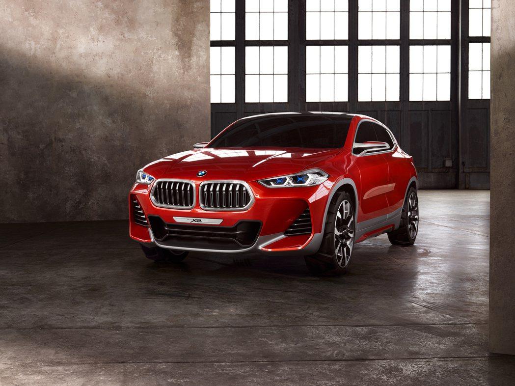 圖為X2概念車。BMW提供