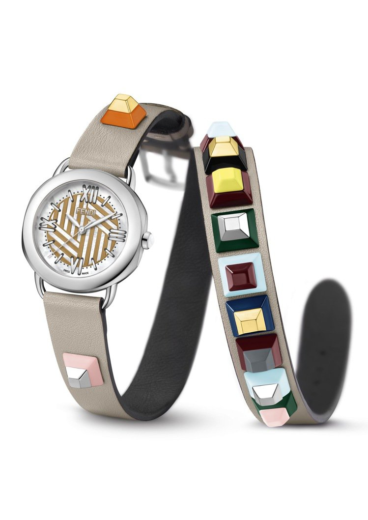 Fendi Selleria Straps You腕表系列的可換式雙圈表帶相當吸...
