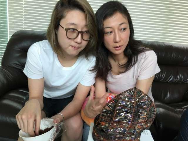 吳綺莉(右)與女兒吳卓林(左)最近鬧翻。圖/摘自微博