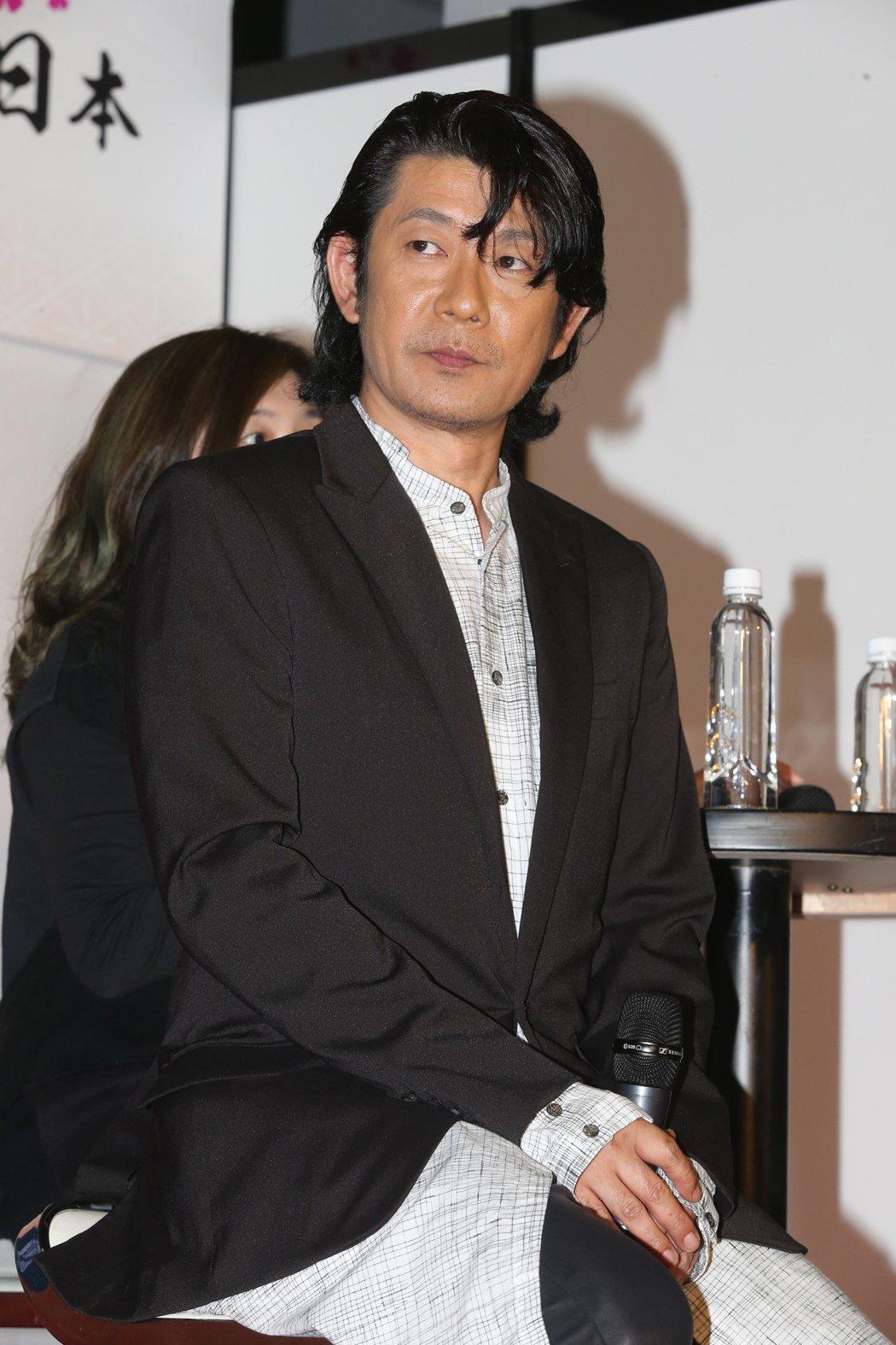 日本影帝永瀨正敏昨天出席日本東北、九州的觀光活動。記者徐兆玄/攝影