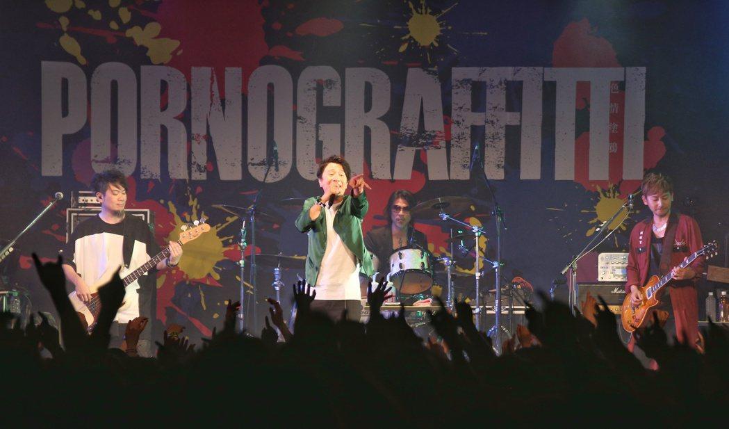 日團色情塗鴉來台於華山Legacy開唱。記者陳立凱/攝影