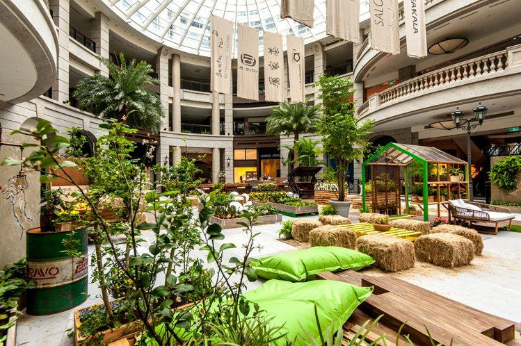 BELLAVITA 2017 Urban Garden主題,把中庭變綠意田園。圖...