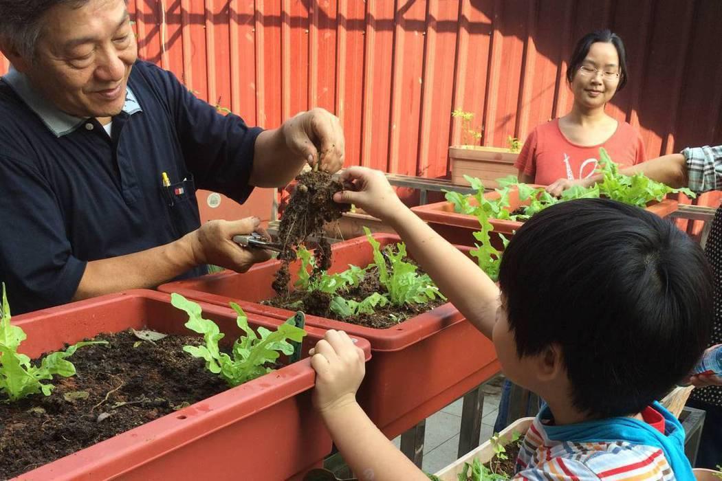 台北市龍安國小推動「園藝治療」課程,讓過動孩童透過澆花、種菜等方式,抒發壓力及情...