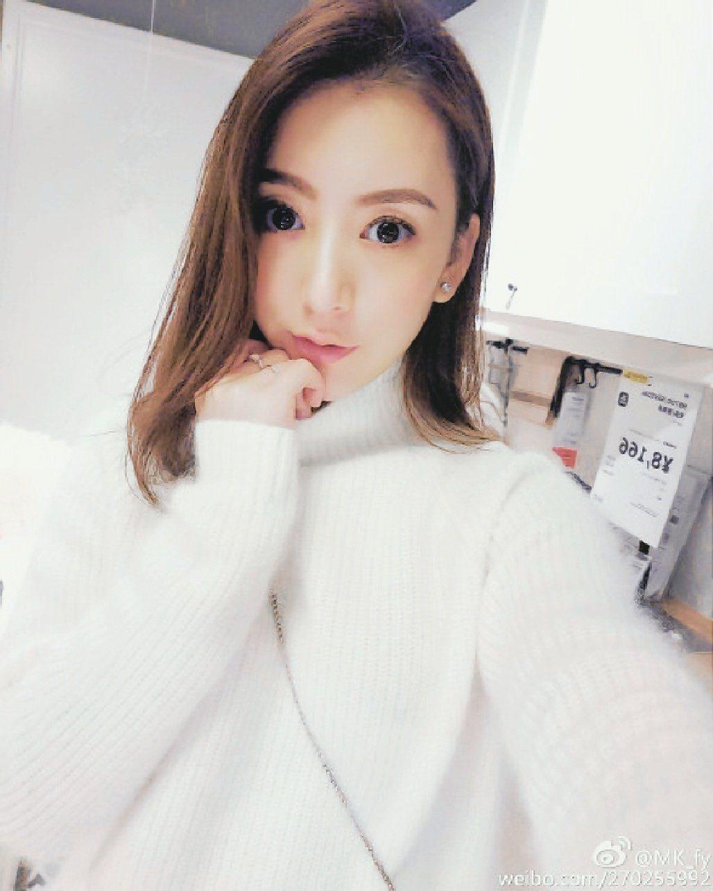 郭富城女友方媛。圖/摘自微博