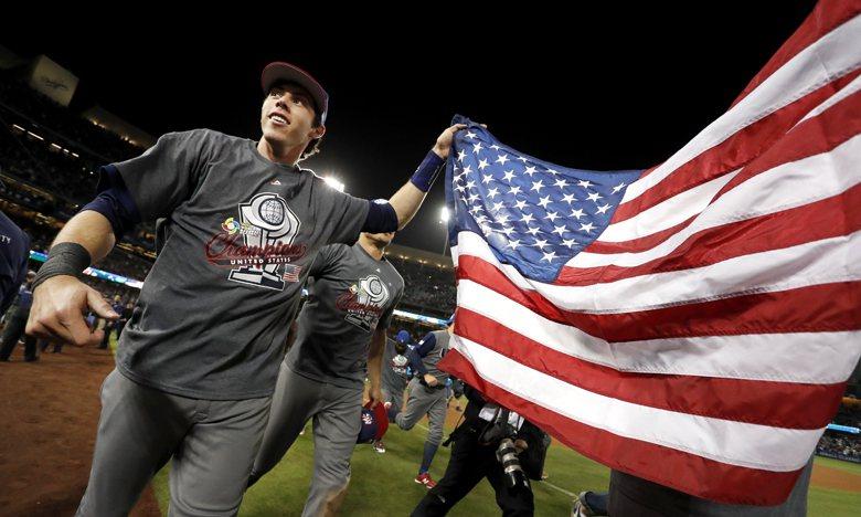 無論哪一隊奪冠,都由MLB體系宰制的全球職棒,正是「反全球化民粹風潮」下的「資本再度偉大」道路。 圖/歐新社