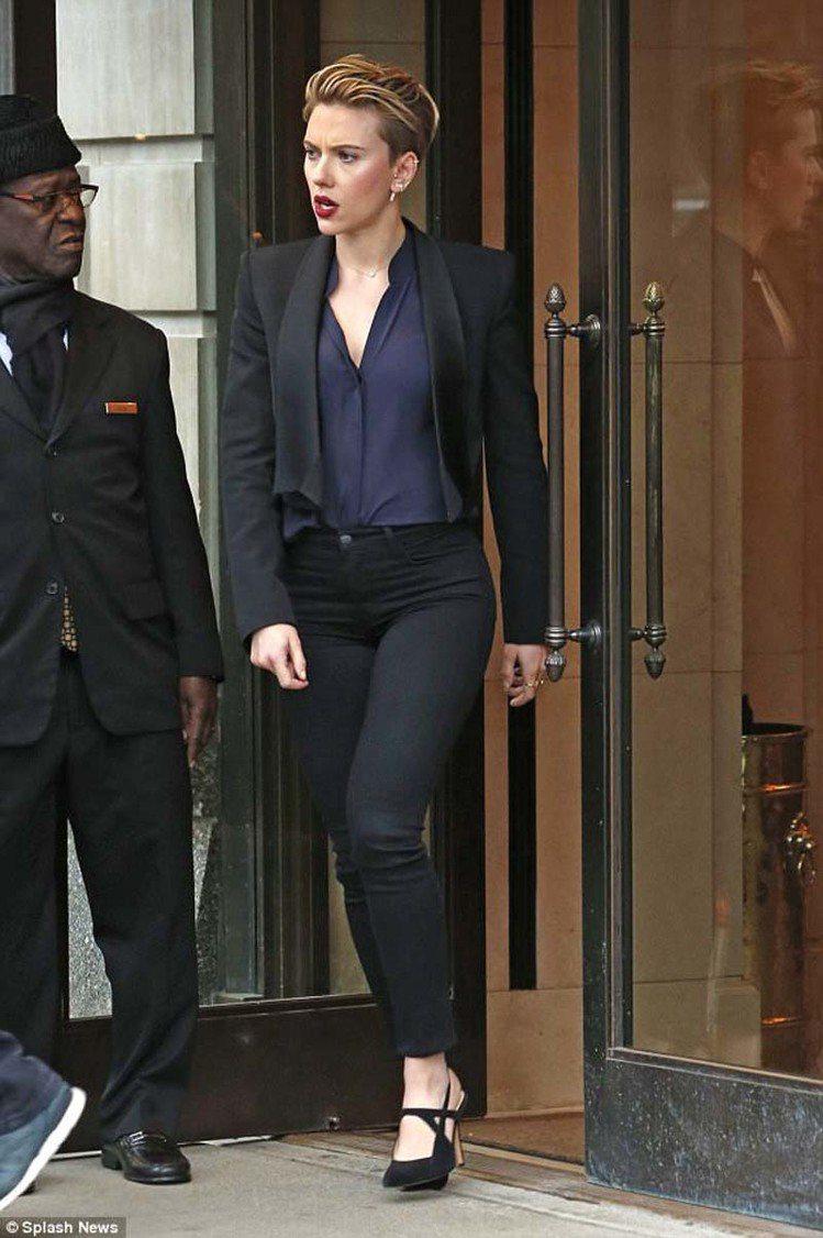 好萊塢女星史嘉莉喬韓森。圖/擷自每日郵報