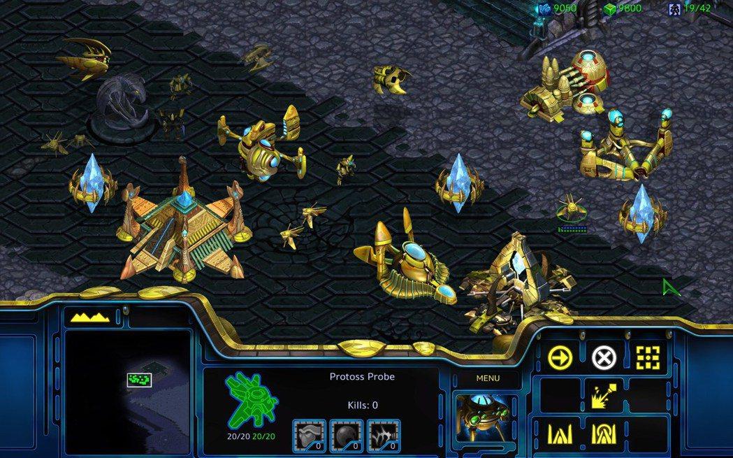 高畫質重製版遊戲畫面 ─ 神族。