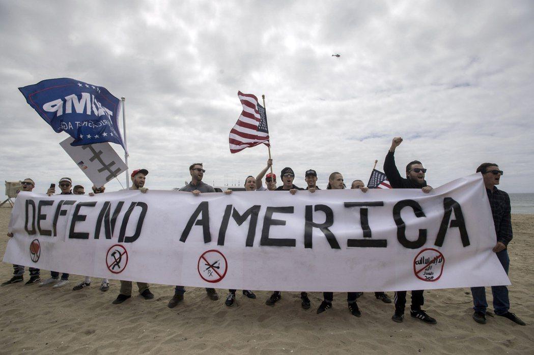 美國周末有多場挺川普集會和遊行。(美聯社)