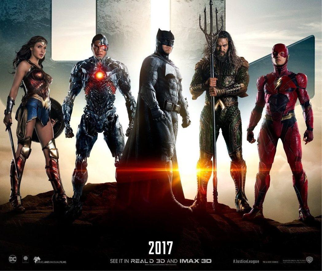 「正義聯盟」即將首度集結眾多超級英雄。圖/華納兄弟影業提供