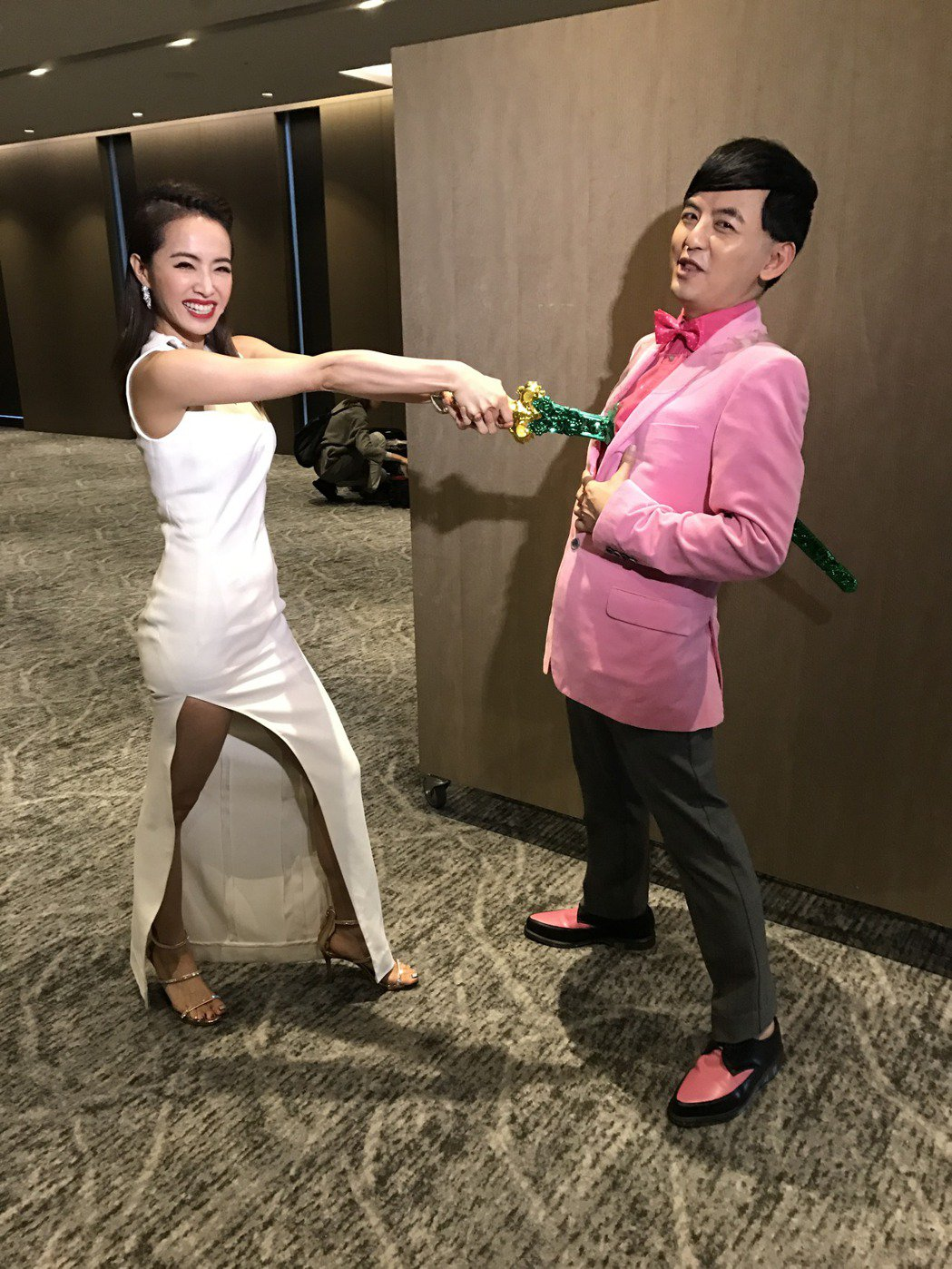 蔡依林與黃子佼玩「鬼怪」梗。記者陳于嬙/攝影