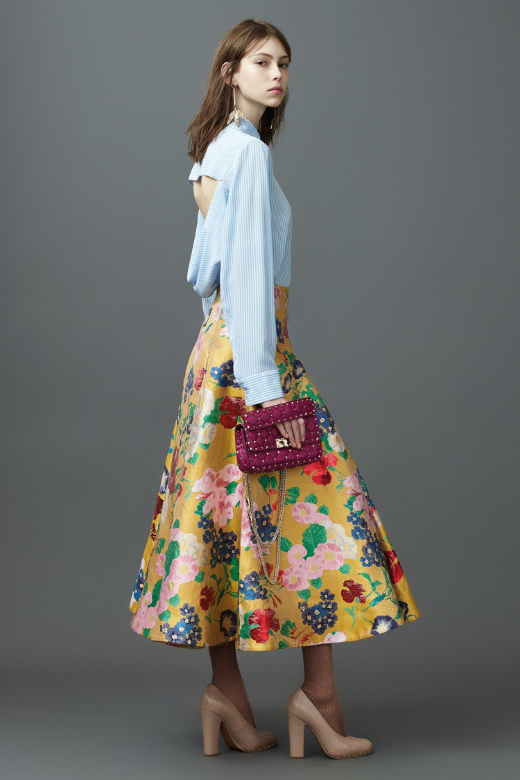 林心如穿的VALENTINO 2017早春系列服裝。圖/VALENTINO提供