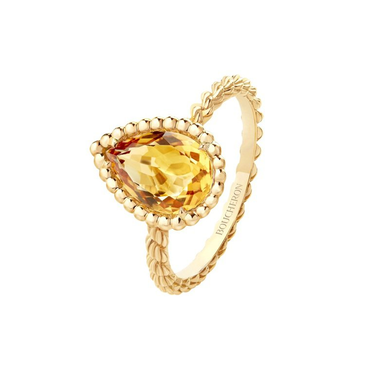 Serpent Bohème系列18K黃金鑲嵌黃水晶戒指,61,500元。圖╱B...