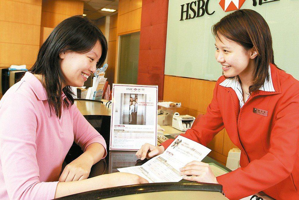 各銀行推出眾多美元存款專案,投資人應仔細挑選適合自己的方案。 圖/匯豐銀行提供