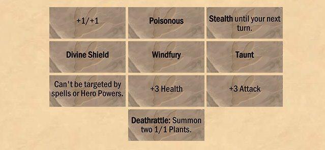 「演化」會讓玩家從十種效果中進行三選一。十種效果分別為:+1/+1、帶毒、潛行至...
