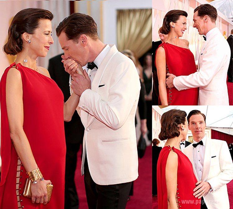 班奈狄克和老婆蘇菲杭特。圖/擷自pinterest
