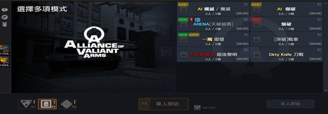 快速配對頻道介面優化,大廳畫面更加簡潔,讓玩家能對現有模式一目瞭然。 圖/Gar...