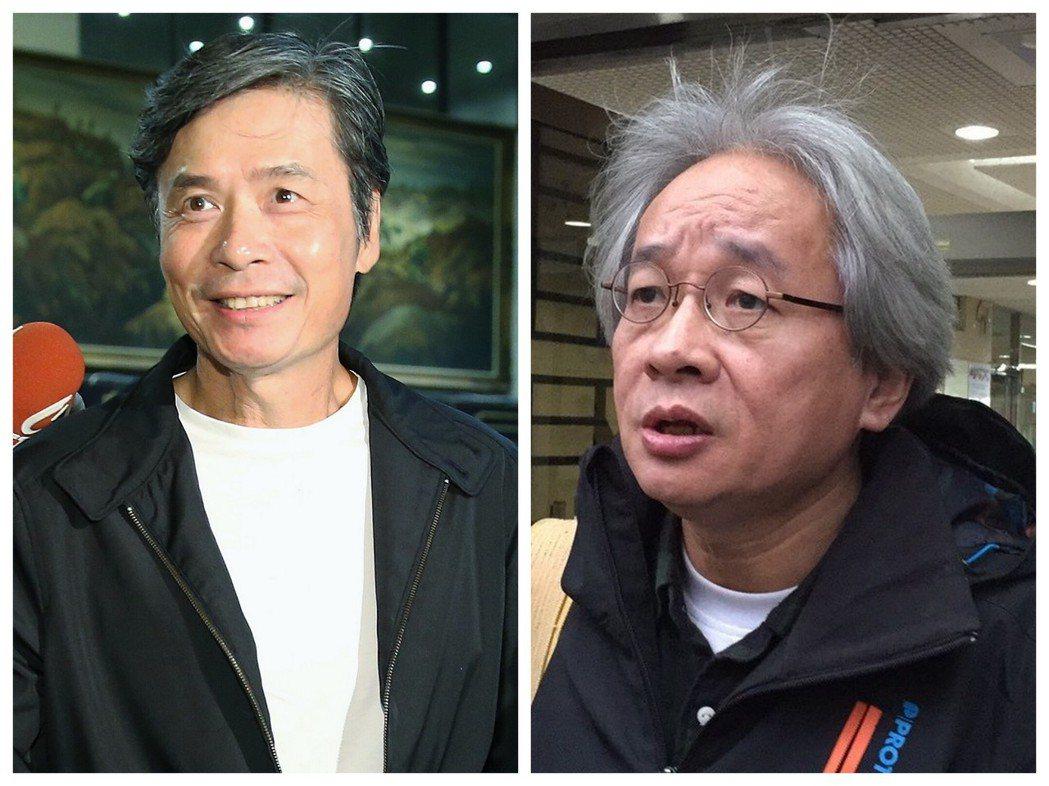 馮光遠(右)曾撰文諷刺金溥聰(左)與前總統馬英九是「特殊性關係」,金溥聰控告馮光...