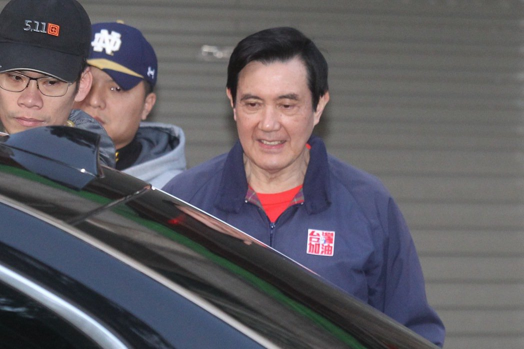 前總統馬英九被控教唆洩密案下午宣判,馬英九清晨照常從自宅出門運動。記者黃威彬/攝...