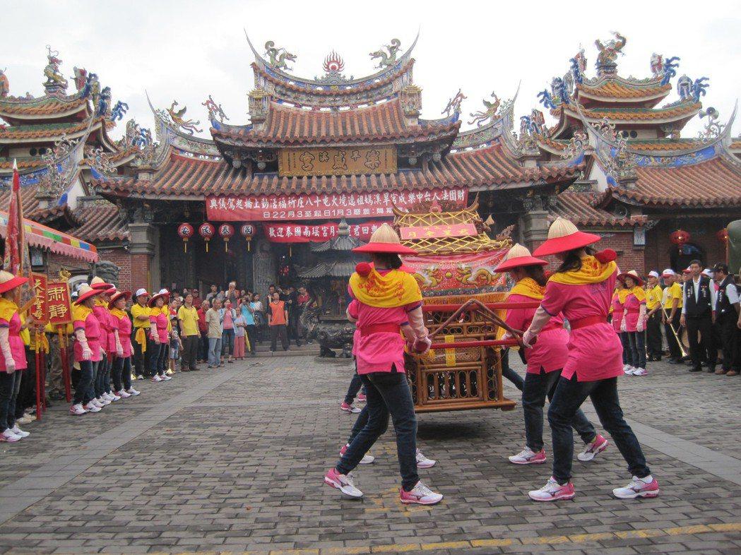 台中樂成宮是3級古蹟。 本報資料照片