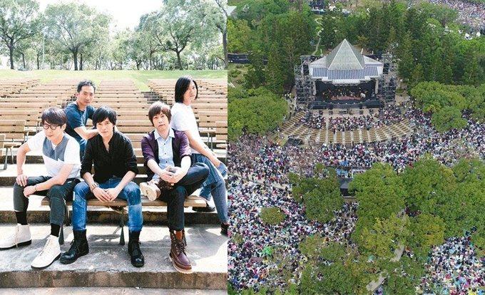 五月天慶祝成軍20周年今晚在台北市大安森林公園舉辦演唱會,傍晚預估上萬「五迷」,...