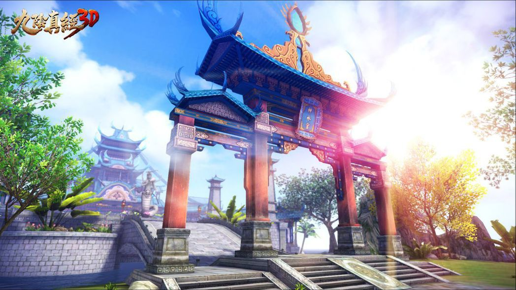 神水宮場景,掌握與蠱毒克制的「冰沁神水」而引來五仙教進犯。 圖/捷達威提供
