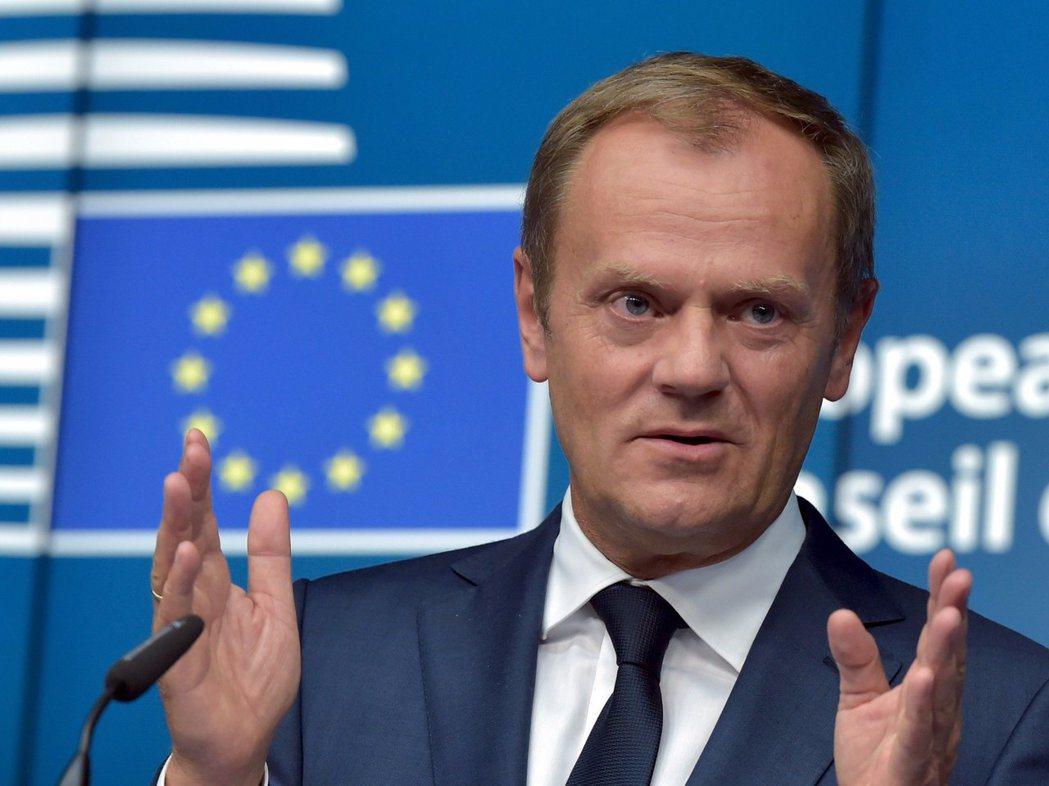 歐洲理事會主席圖斯克。圖/路透