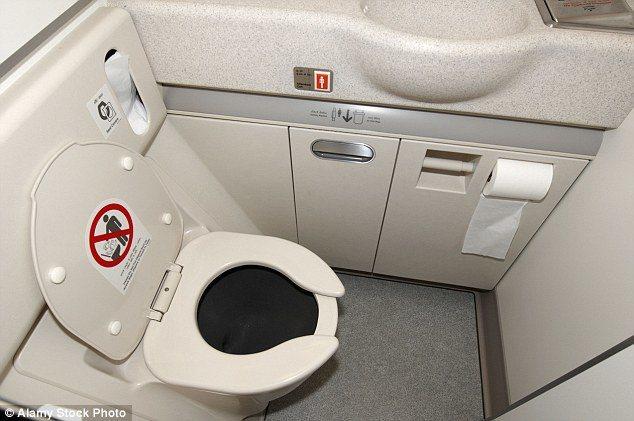 多數人都希望上大號的時候能不被打擾,但在飛機上不大容易。 圖/取自Daily m...