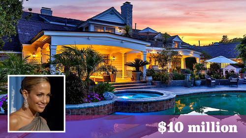 珍妮佛洛佩茲位於隱山豪宅,從開價1700萬元一路跌至1000萬元才成交。(房地產...