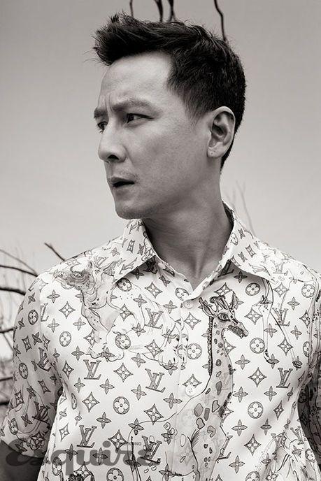 吳彥祖詮釋路易威登襯衫的飄逸瀟灑。圖/取自esquirehk.com