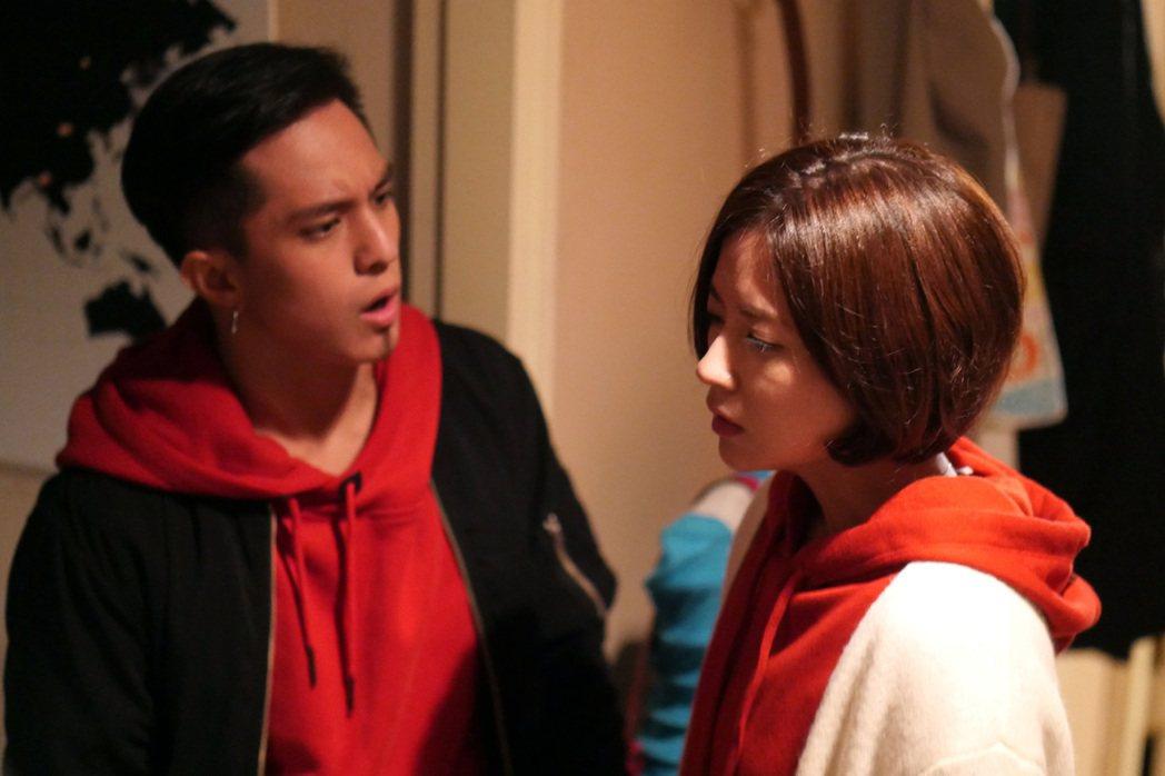 林予晞(右)與黃遠在「酸甜之味」中「搞出人命」。圖/TVBS提供