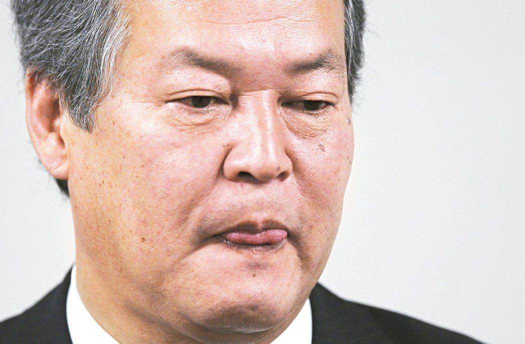 失言而下台的日本法務大臣柳田稔。 (路透)