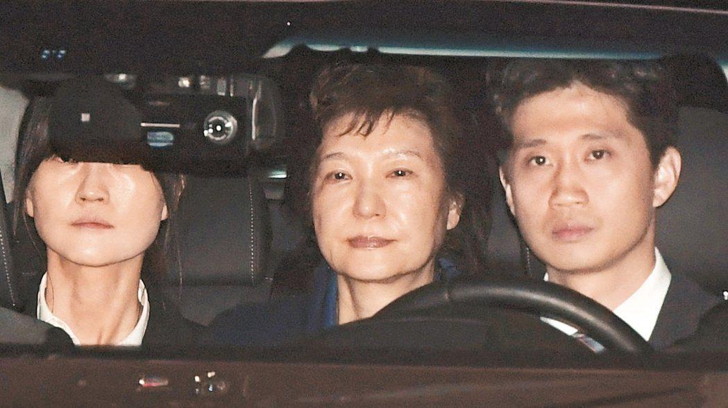 南韓前總統朴槿惠淪為階下囚。 美聯社