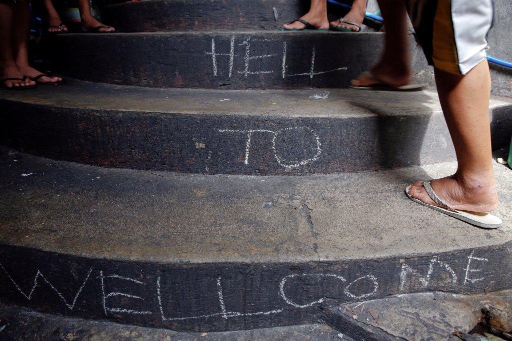 由人權的角度出發,兒童、青少年及其他弱勢族群的用藥問題應該受到特別重視。這並非要要政府嚴格取締,而是要更加留意這些族群受到權利侵害。圖為菲律賓勒戒所。 圖/路透社