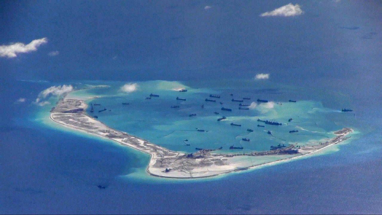 南沙群島美濟礁。路透