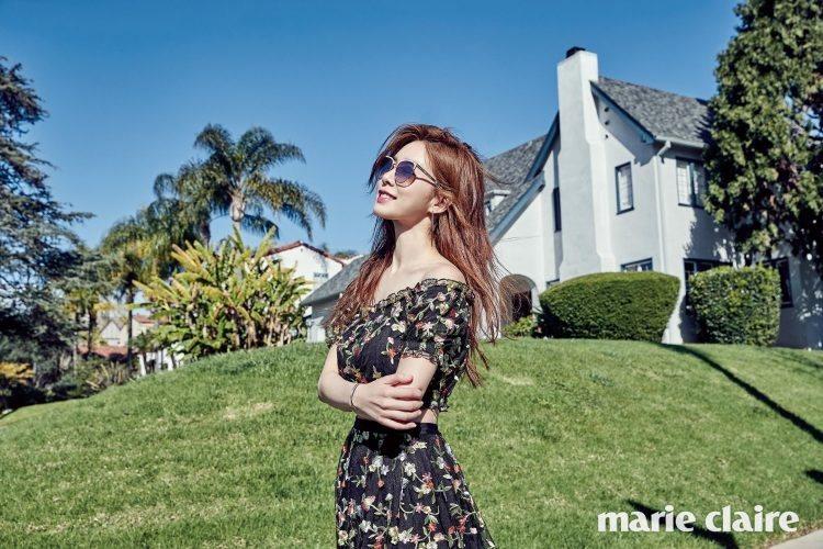 劉寅娜以H&M搭Fakeme太陽眼鏡,拍出陽光燦爛的笑臉。圖/取自mariecl...