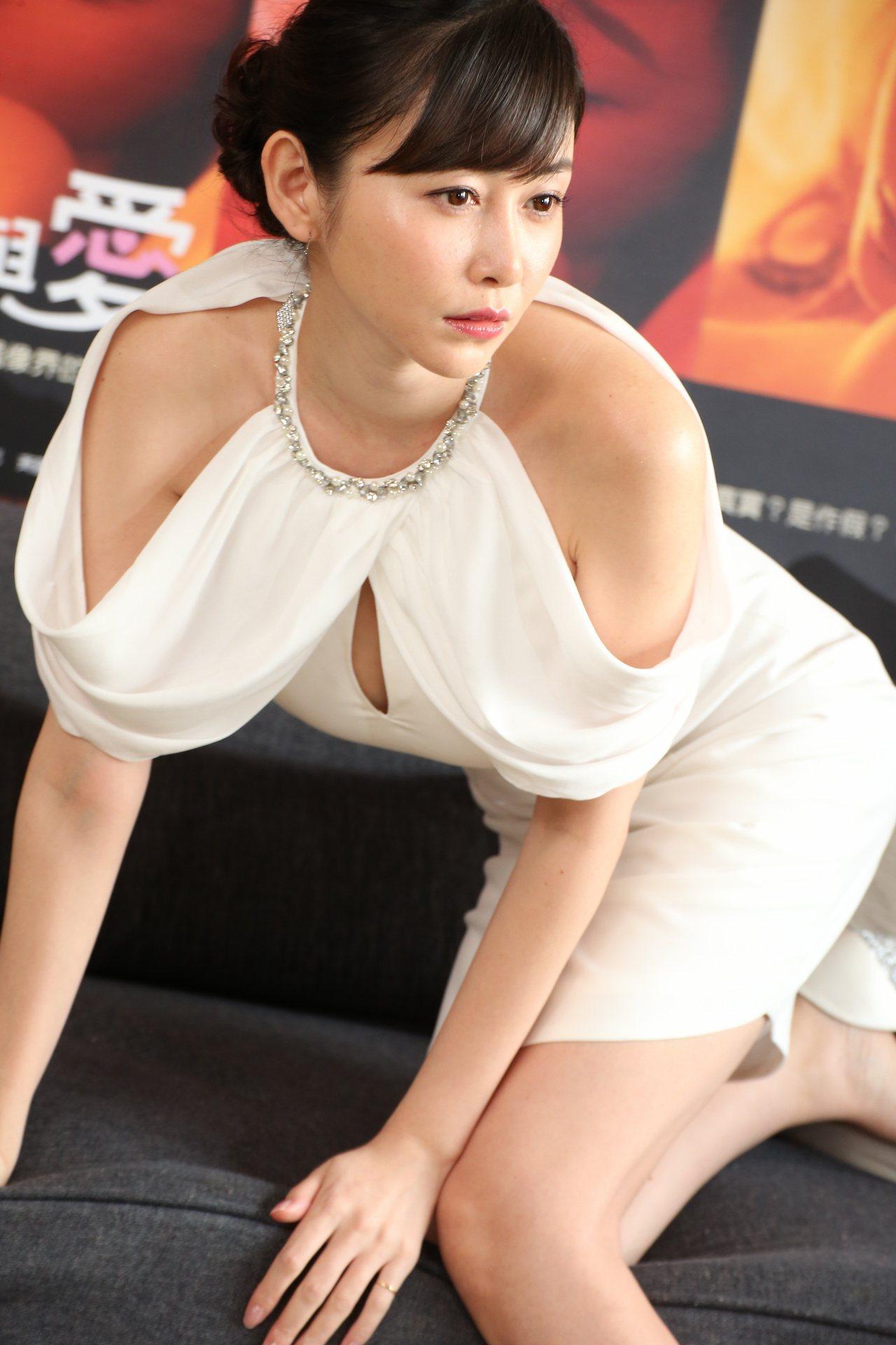 日本寫真女星杉原杏璃來台宣傳。記者陳立凱/攝影