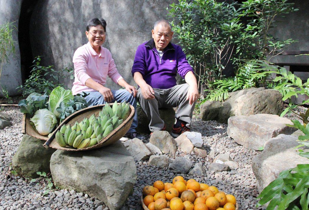 來春嬤的蔬果數量不多,總是很快銷售一空。 圖/朱慧芳