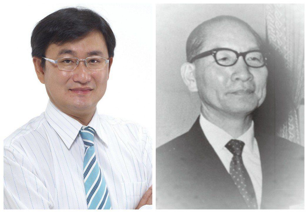 兩個黃國書,左邊是民進黨立委黃國書,右邊是已故第5任立法院院長黃國書。 圖/報系...