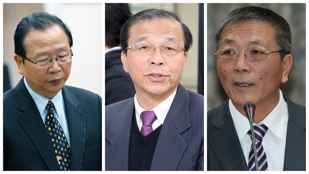 三個林德福,由左至右分別是國民黨立委林德福、台電發言人林德福、體育署長林德福。 ...