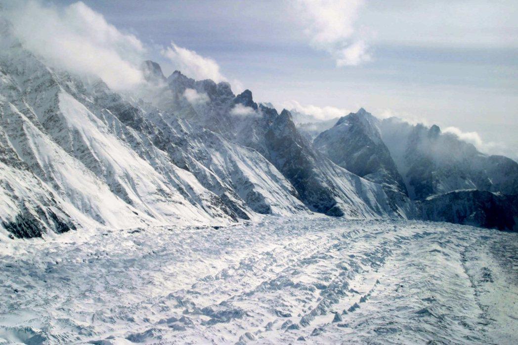 喜馬拉雅山區的冰河「錫亞琴冰川」。(美聯社)