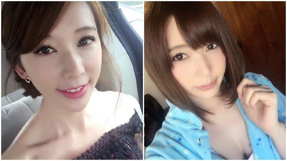 林志玲(左)新照竟然撞臉波多野結衣。圖/摘自微博、臉書
