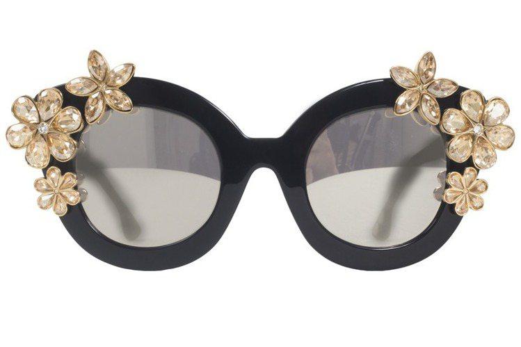Alice+Olivia水鑽花朵太陽眼鏡,23,900元。圖/Alice+Oli...
