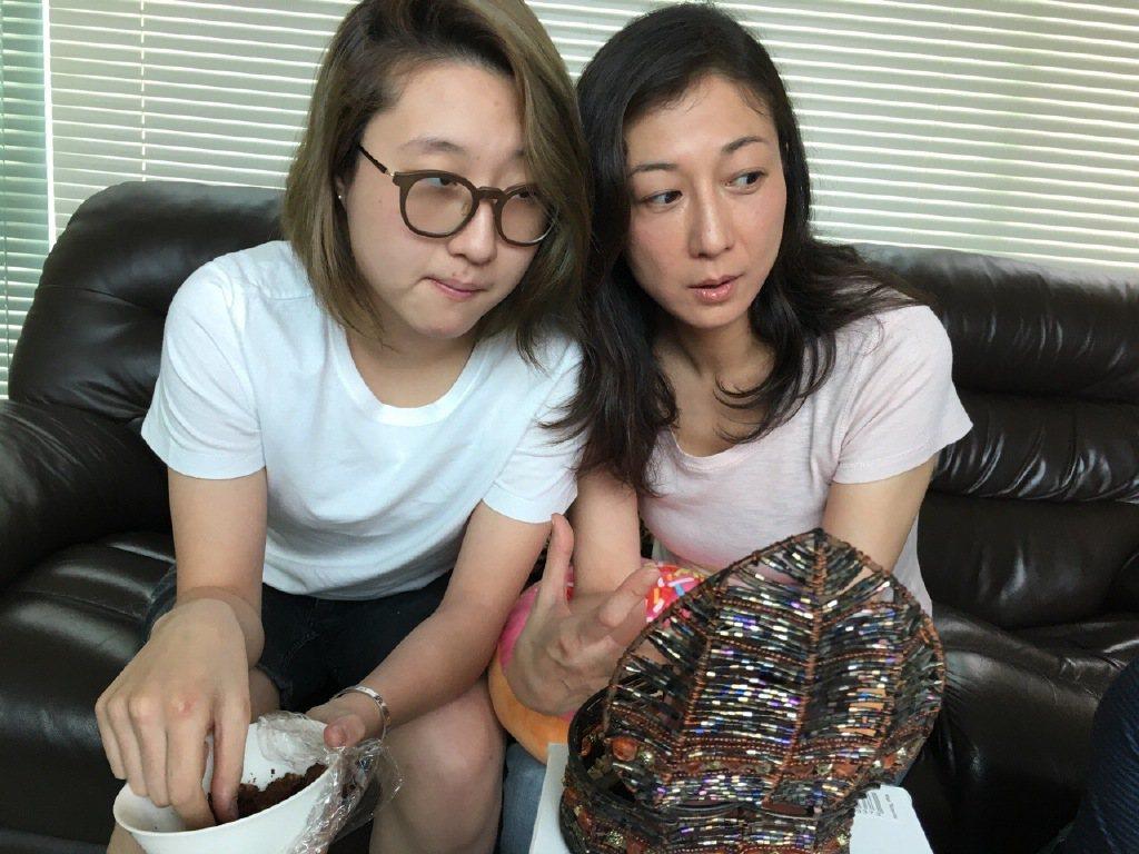 吳綺莉與吳卓林(左)。圖/取自微博