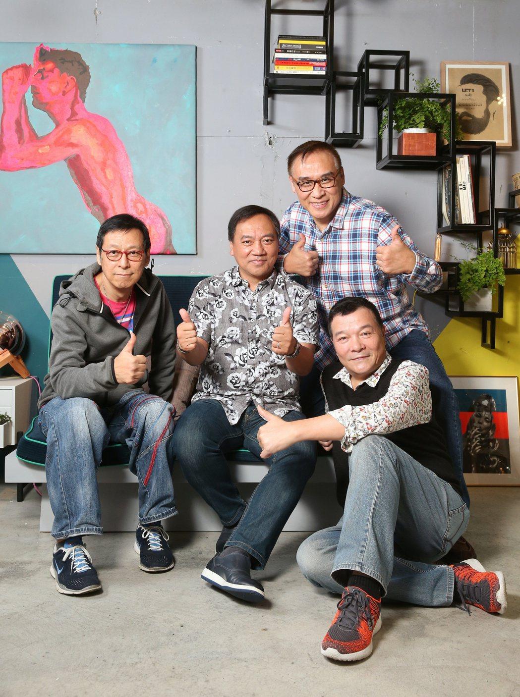 大叔團專訪 羅吉鎮(左起),施孝榮、王瑞瑜、李明德。記者陳立凱/攝影